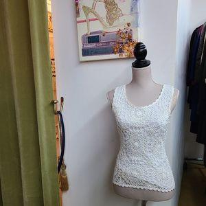 Nicole Miller Evening Crochet Tank Top
